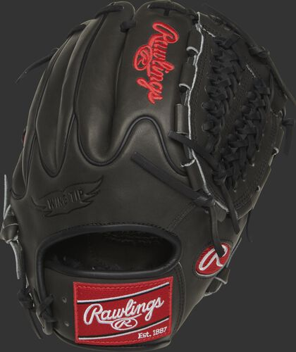 Wing Tip back of a dark shadow PRO205W-15DSP Heart of the Hide 11.75-inch infield/pitcher's glove