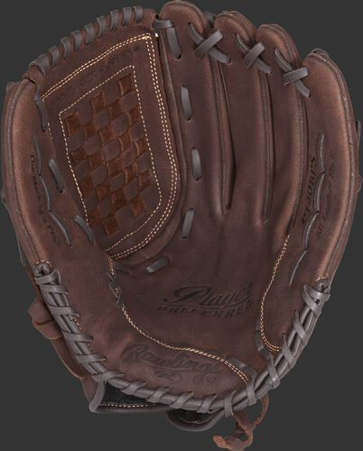 P140BPS Ralwings Player Preferred glove with a brown palm and brown laces