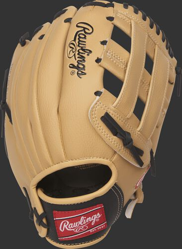 PL115BC 11.5-inch youth Players Series glove with a camel back and black wrist strap