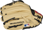 Camel fingerbacks of a Rawlings Brandon Crawford Pro Preferred glove with the MLB logo on the pinkie - SKU: PROS204-BC35 image number null