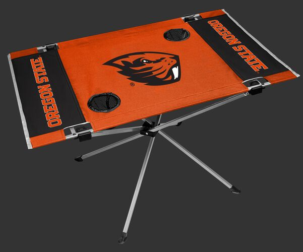 NCAA Oregon State Endzone table in team colors with a team logo and two cup holders SKU #04053048111