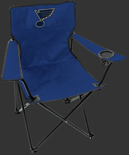 Front of Rawlings Blue NHL St. Louis Blues Gameday Elite Chair With Team Logo SKU #00694118111