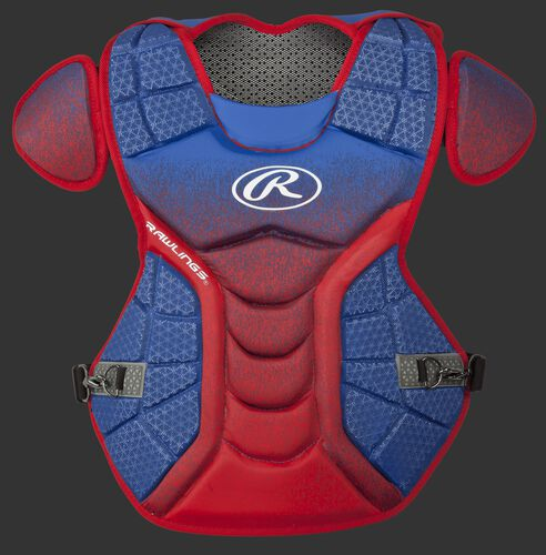 A royal/scarlet CPVEL Velo series intermediate chest protector