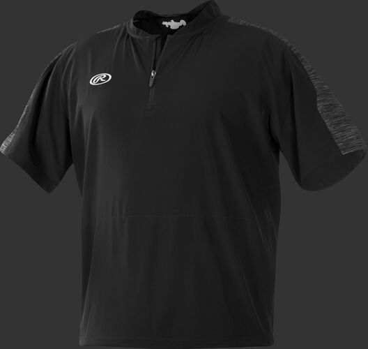 Front of Rawlings Black Adult Launch Cage Jacket - SKU #LNCCJ-B-88