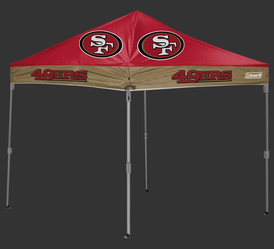 Rawlings Scarlet and Gold NFL San Francisco 49ers 10x10 Canopy Shelter With Team Logo and Name SKU #03221084111