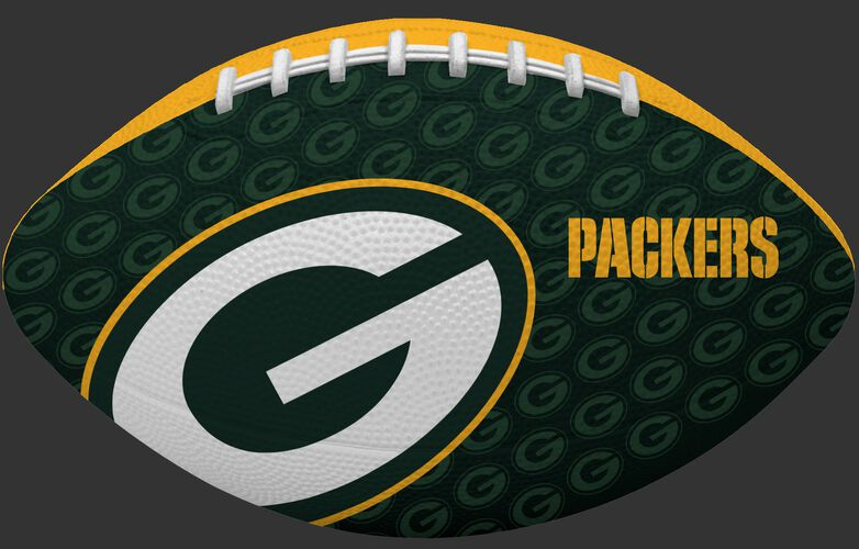 Green side of a NFL Green Bay Packers Gridiron football with the team logo SKU #09501068122