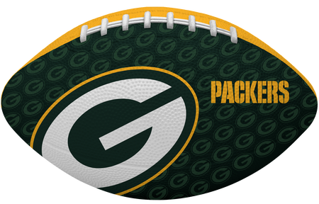 Green side of a NFL Green Bay Packers Gridiron football with the team logo