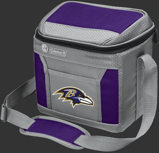 Rawlings Baltimore Ravens 9 Can Cooler In Team Colors With Team Logo On Front SKU #03281092111