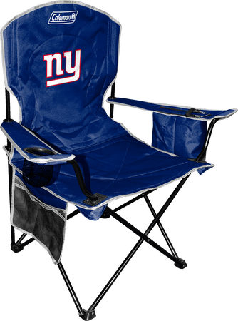 Front of Rawlings Blue NFL New York Giants Chair With Team Logo SKU #02771078111