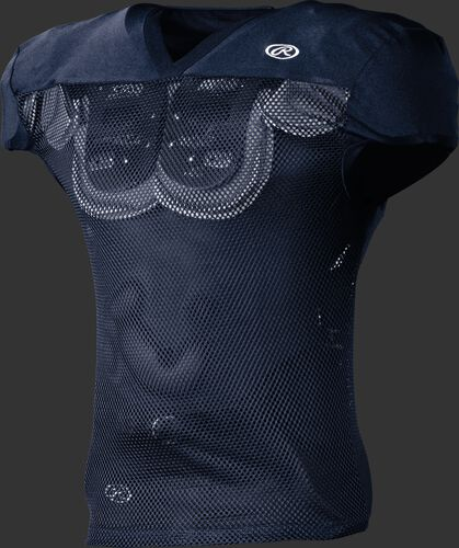 Front of Rawlings Navy Adult Practice Football Jersey  - SKU #FJPR1