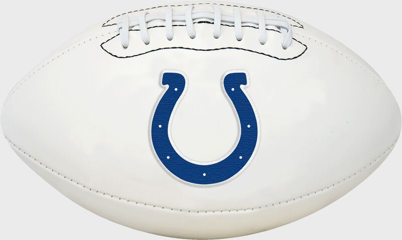 White NFL Indianapolis Colts Football With Team Logo SKU #06541070811