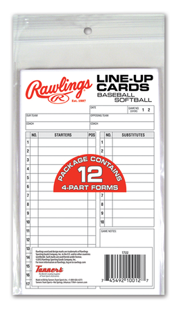 System-17 Lineup Cards Refill Pack