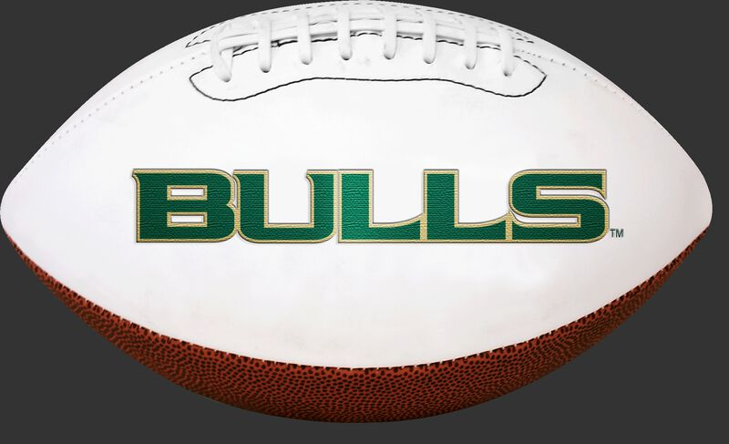 White NCAA South Florida Bulls Football With Team Name SKU #05733171121