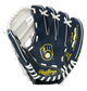 A navy/white Rawlings Milwaukee Brewers youth glove with the Brewers logo stamped in the palm - SKU: 22000006111 image number null