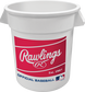 Red Rawlings patch on a white MLB Big Bucket - SKU: BIBUCK6PK image number null