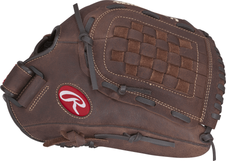 Thumb view of a brown P125BFL Player Preferred 12.5-inch outfield glove with a brown Basket web
