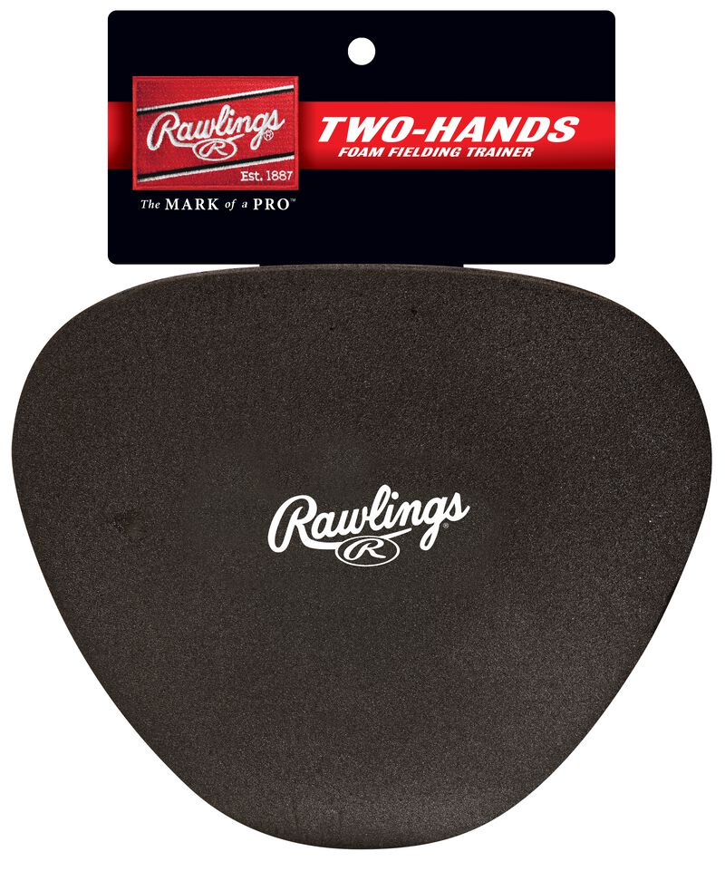 Rawlings Black Two-Hands Foam Fielding Trainer With Brand Logo In The Middle SKU #2HANDS