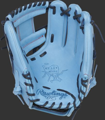 Columbia blue palm of a Rawlings Toronto Blue Jays HOH glove with royal laces - SKU: RSGPRO204-2TOR