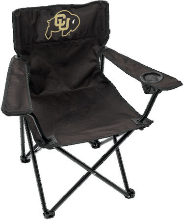 Front of Rawlings Black and Gold NCAA Colorado Buffaloes Gameday Elite Chair With Team Logo SKU #00563071111