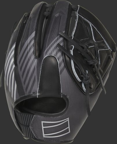 3D molded back of a REV1X 11.75-Inch 2-Piece solid web glove with a sublimated design back - SKU: REV205-9X