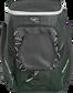 Front of a dark green Impulse baseball backpack with a gray front pocket - SKU: IMPLSE-DG image number null
