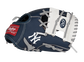 """A navy, white & red New York Yankees 10-inch team logo glove with a white I-web and """"NY"""" logo on the thumb - SKU: 22000030111 image number null"""