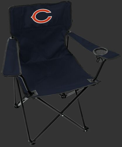 Front of Rawlings Navy Blue NFL Chicago Bears Gameday Elite Chair With Team Logo SKU #00551062111