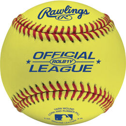 Official League Yellow Baseballs