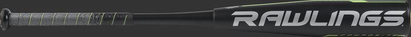 UT9Q12 USSSA Rawlings Quatro Pro with a black barrel and grey/black grip
