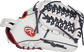 RLA125FS Liberty Advanced 12.5-inch fastpitch outfield/pitcher's glove with a white thumb and Looped Modified Trap-Eze web image number null