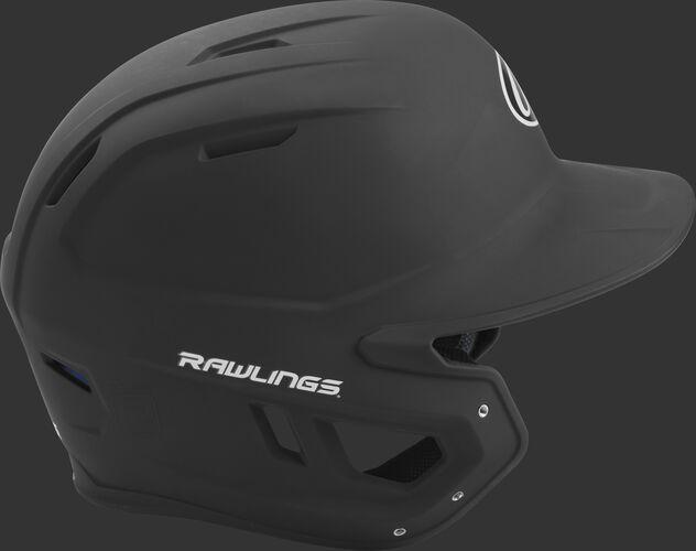 Right side of a matte black MACH helmet