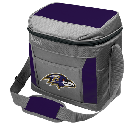 Rawlings Baltimore Ravens 16 Can Cooler In Team Colors With Team Logo On Front SKU #03291092111