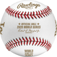 A 2020 World Series dueling baseball with gold stamping and the Official Ball of MLB stamp - SKU: EA-WSBB20DL-R image number null