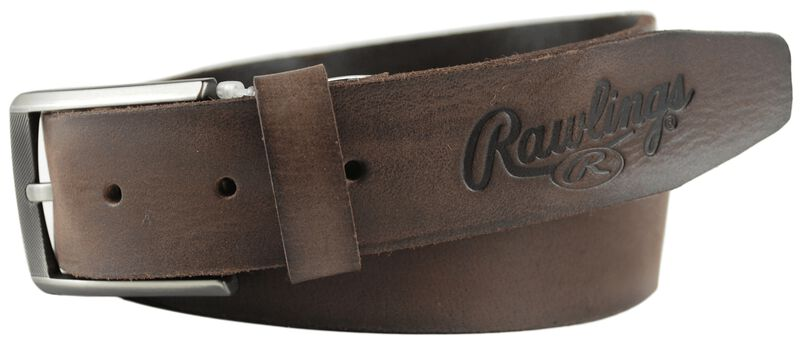 Twisted Brown Leather Belt