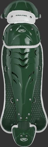 Dark green SBLGVI Velo intermediate softball leg guards