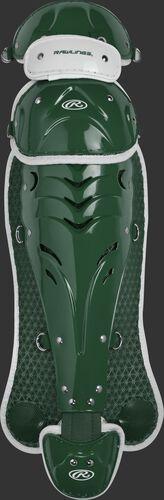 Velo Intermediate Softball Leg Guards Dark Green