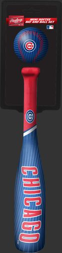 Rawlings Chicago Cubs Softee Mini Bat and Ball Set in Team Colors With Team Name and Logo On Front SKU #01160008114