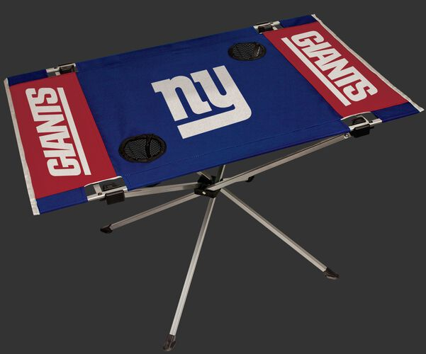 Rawlings Red and Blue NFL New York Giants Endzone Table With Two Cup Holders, Team Logo, and Team Name SKU #03391078111