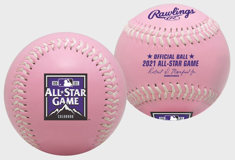A MLB 2021 replica Pink All-Star Game baseball with the 2021 ASG logo - SKU: 35010037170