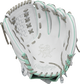 White palm of a Rawlings HOH infield/pitcher's softball glove with a white web and grey laces - SKU: PRO716SB-18WM image number null