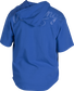 Back of a royal Rawlings Gold Collection short sleeve hoodie with a royal script Rawlings logo across the back - SKU: GJJ-R image number null