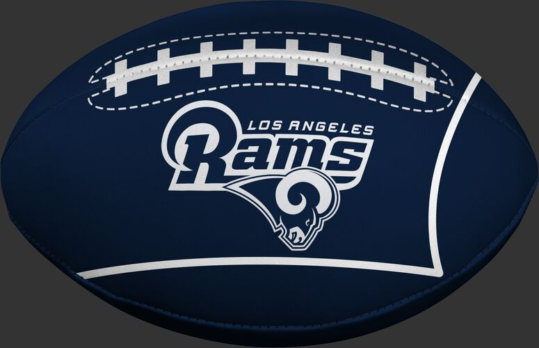 Navy Blue NFL Los Angeles Rams Football With Team Name and Logo SKU #07831073114