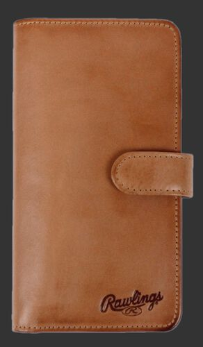 Rawlings Brown Universal Magnetic Leather Phone Wallet With Brand Name SKU #RO90000-204
