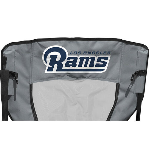 Back of Rawlings Silver and Navy NFL Los Angeles Rams High Back Chair With Team Name SKU #09211073518