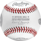 An official ALCS18DL 2018 American League Championship Series dueling baseball with the league commissioner's signature