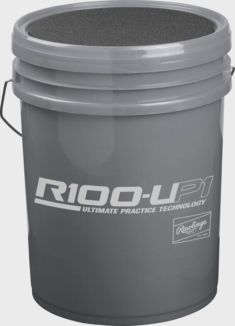 R100UP1BUCK24 Gray bucket for Ultimate Practice high school baseballs