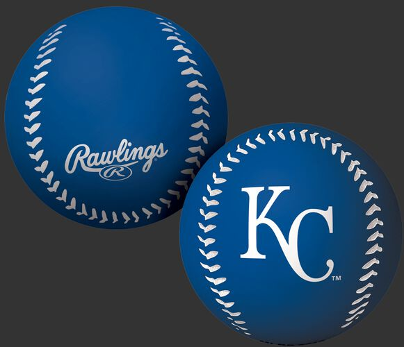 Rawlings Kansas City Royals Big Fly Rubber Bounce Ball With Team Logo on Front In Team Colors SKU #02870026112