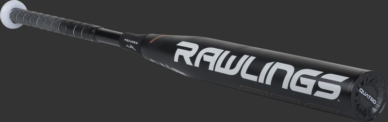 FPQP9 Rawlings fastpitch Quatro Pro bat with a black barrel and black end cap
