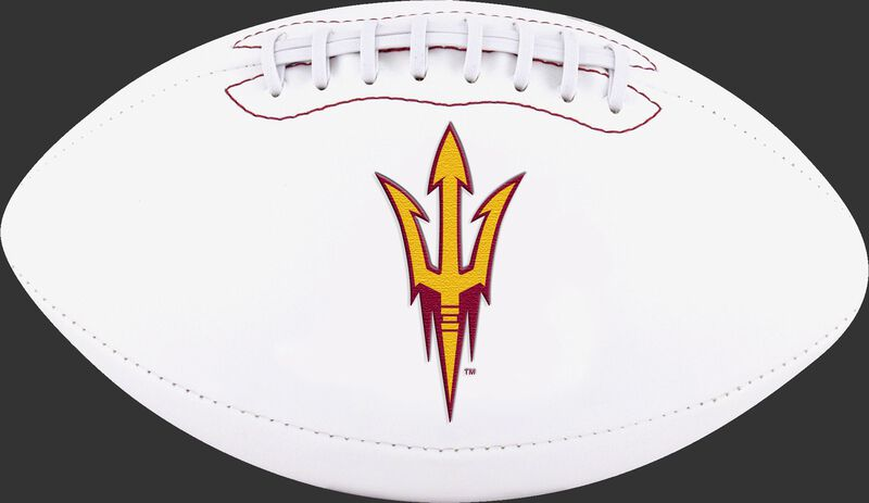 White NCAA Arizona State Sun Devils Football With Team Logo SKU #05733001122