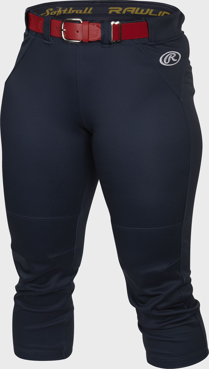 Front of Rawlings Navy Women's Yoga Style Softball Pant - SKU #WYP